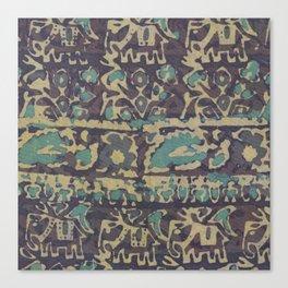 Elephant Batik Canvas Print
