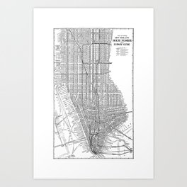 New York City Subway Map, New York City Art, Manhattan New York Art Print