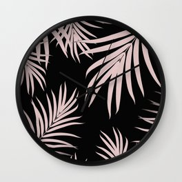 Palm Leaves Pattern Summer Vibes #5 #tropical #decor #art #society6 Wall Clock