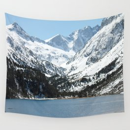 Snowy Mountains and Lake Wall Tapestry