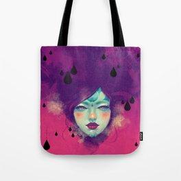 Black Rain Tote Bag