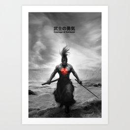 Courage of Samurai Art Print