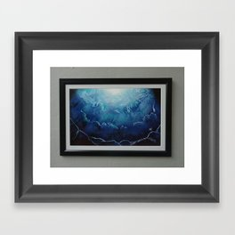 Ice Cavern Framed Art Print