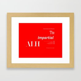 The Impartial III Framed Art Print