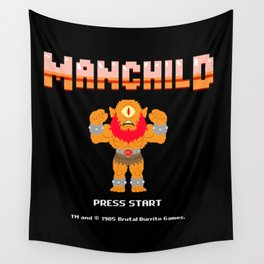 8Bit Manchild Wall Tapestry