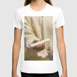 Totora in Hand of Young Boy on Uros Islands T-shirt