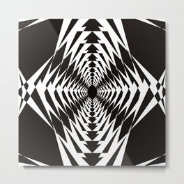 Trippy in BW Metal Print