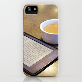 My Coffee and My Kindle iPhone Case