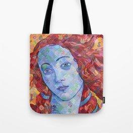 Variations On Botticelli's Venus - No. 3 (Primary Colors) Tote Bag