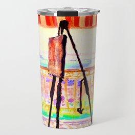 Albert Marquet Balcony with Striped Awning Travel Mug