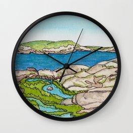 Peggy's Cove Watercolour Painting Backside Wall Clock