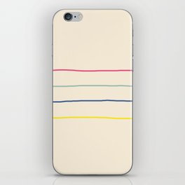 Abstract Retro Lines #1 iPhone Skin