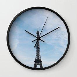 Blue Skies in Paris Wall Clock