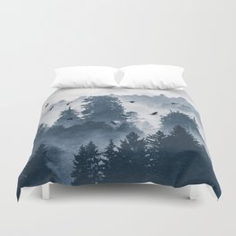 Amazing Forest Morning Nature Photography Duvet Cover