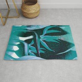 Floreal - Tropical Bird Of Paradise Flower Surrealism Rug