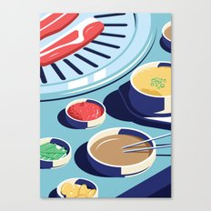 A night out in Seoul - Part 1 - Korean BBQ Canvas Print