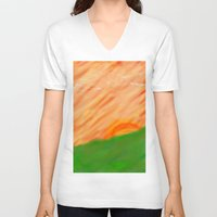 twilight V-neck T-shirts featuring twilight. by azyxz