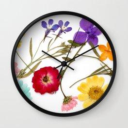 Pressed flower arrangement #2 Wall Clock