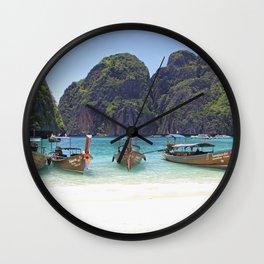Maya Bay, Phi Phi Island, Thailand Wall Clock