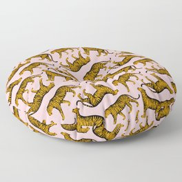 Tigers (Pink and Marigold) Floor Pillow