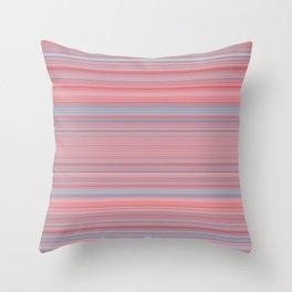 Pink Blue Stripes Throw Pillow