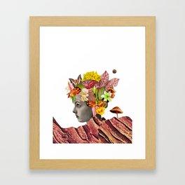 She Moves Mountains - White/Plain Background Framed Art Print
