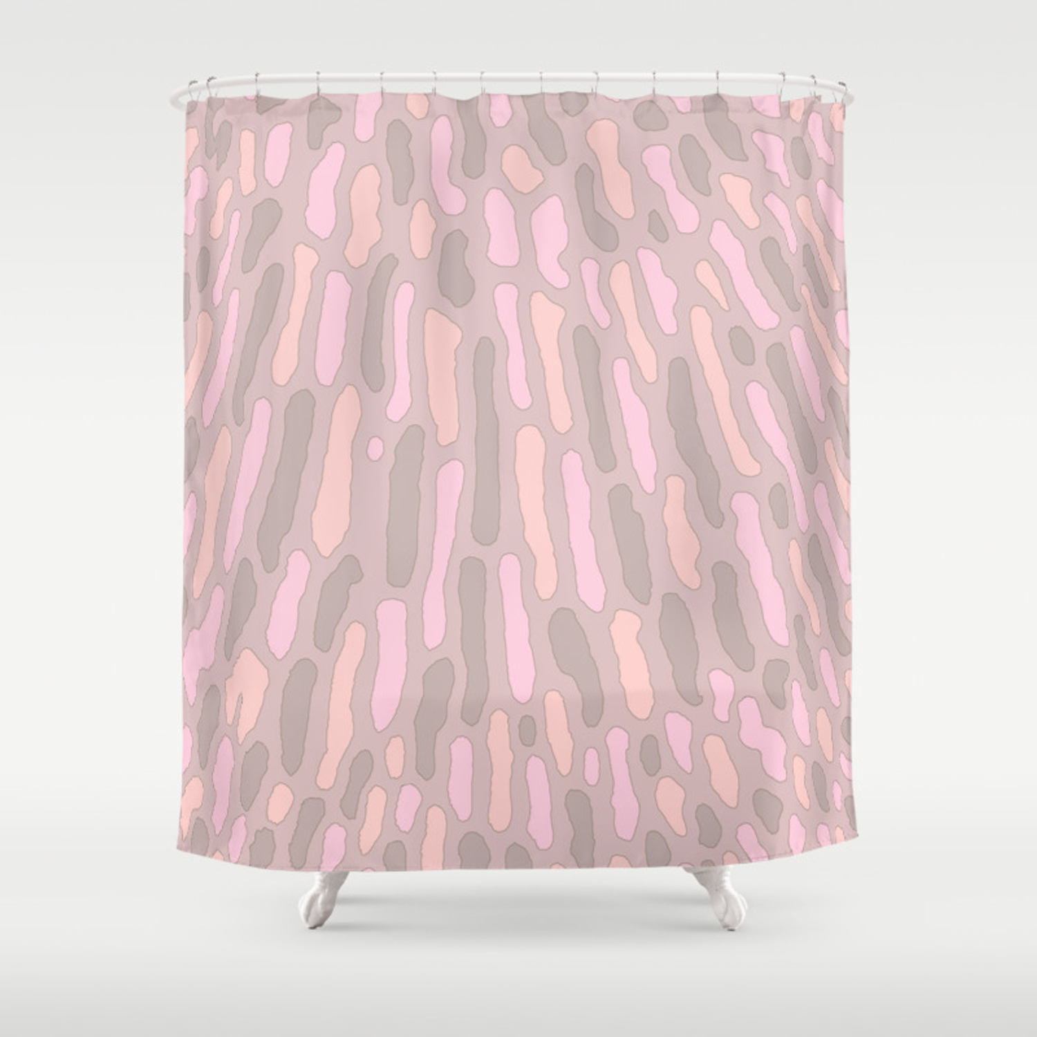 Organic Abstract Cappuccino Neutral Shower Curtain