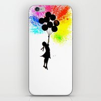 banksy iPhone & iPod Skins featuring Balloon Girl - Banksy Inspired by Ahmad Illustrations