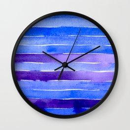 Blue & Purple Wall Clock