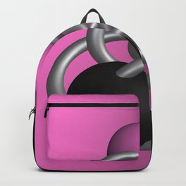 trapped -2of3- pink Backpack