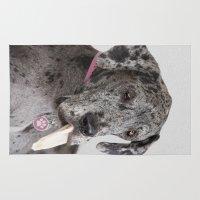 great dane Area & Throw Rugs featuring Great Dane by Deborah Janke