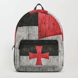 Knights Templar Symbol with super grungy textures Backpack