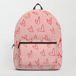 Red and Pink Hearts Backpack