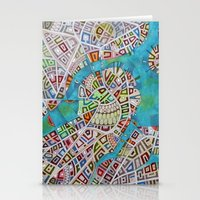 boston map Stationery Cards featuring imaginary map of boston  by Federico Cortese