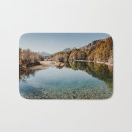 Beautiful the color of water, at the base of Cerro Tronador Bath Mat