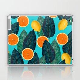 Oranges And Lemons On Teal Laptop & iPad Skin