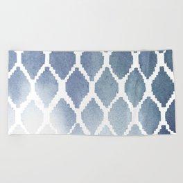 Indigo Ikat Print 2 Beach Towel