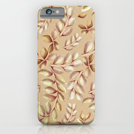 Watercolor Leaves hot colors iPhone Case