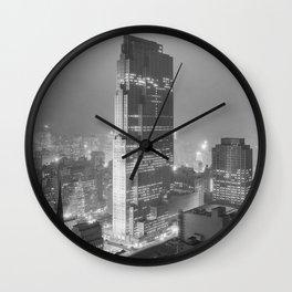 Rockefeller Center - NYC - Winter 1933 Wall Clock