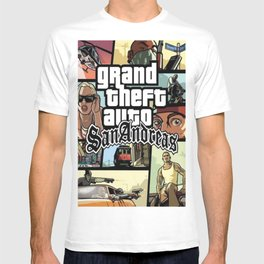 Grand Theft Autoo - GTA San Andreas video game cover T-shirt