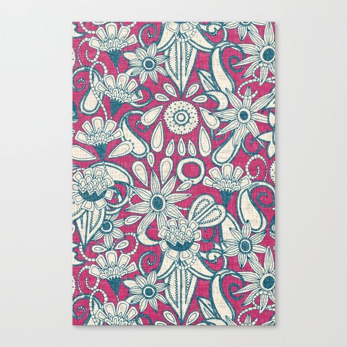 sarilmak pink blue Canvas Print