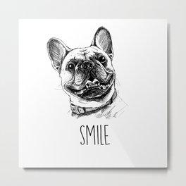 Smile with Dog Metal Print