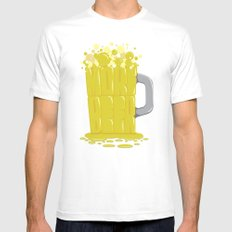 More Beer Mens Fitted Tee White MEDIUM
