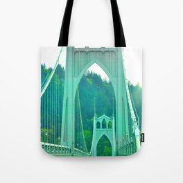 St. Johns Bridge Portland Oregon Tote Bag