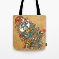 egypt Tote Bags featuring Egypt - painting by oxana zaika