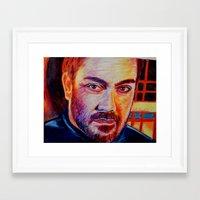 crowley Framed Art Prints featuring Crowley by Kelsey Voykin