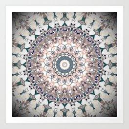 Pastel Boho Chic Mandala Design Art Print