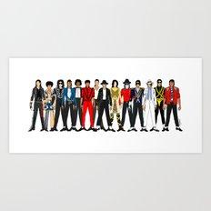 King MJ Pop Music Fashion LV Art Print