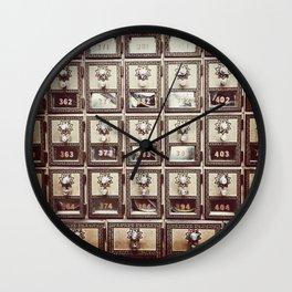 Vintage Post Box Gold Texture Wall Clock