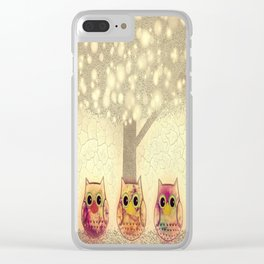 owl-222 Clear iPhone Case